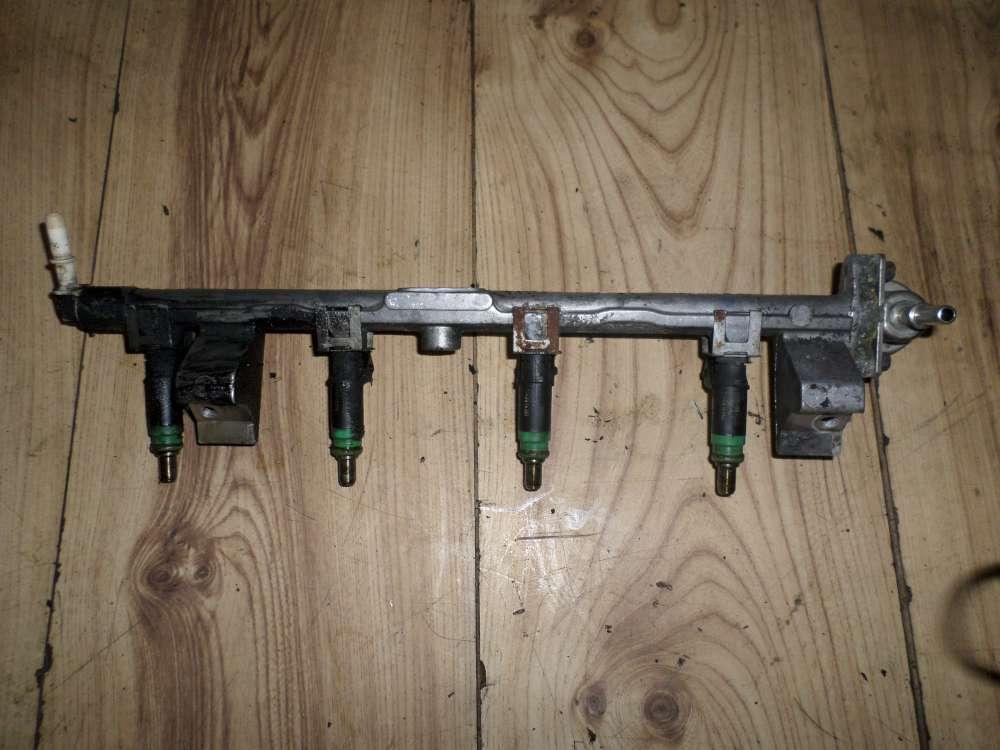 Ford Focus Bj.2000 Einspritzleiste mit Düsen 9H487 / 000503085 / 0280160599