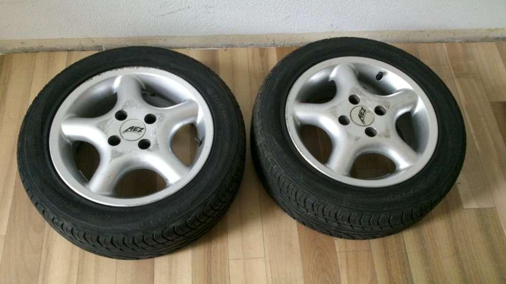 2 x Alufelgen Sommer Reifen VW Golf 3 185/55R14 80V  6Jx14H2 ET :38 Hankook