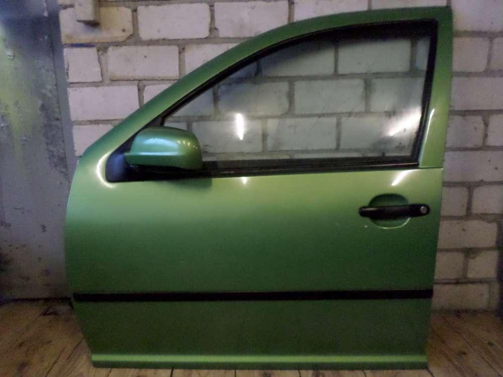 VW Golf 4 IV 1J1 1999 Fahrertür Tür vorne links Grün Farbcode: LA6P