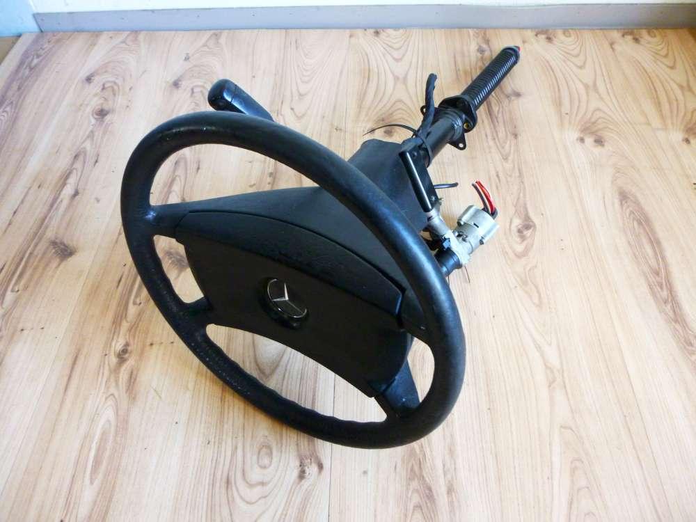 Mercedes E-Klasse Lenkrad Lenkradschloss mit Schlüssel Lenkstange Wischerhebel
