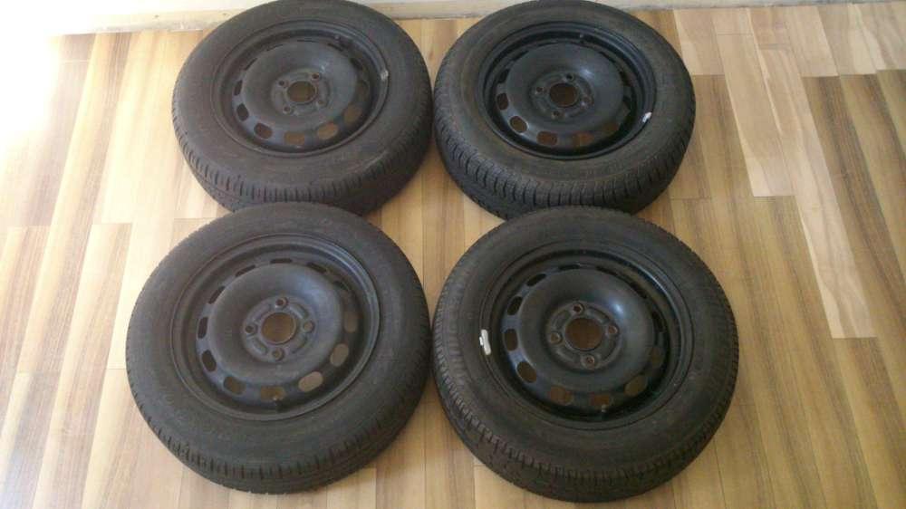 4 x Sommerreifen Stahlfelgen Ford Fiesta 175 / 65 R14 82T 5.5J x 14 ET:47.5 HD0407032S61