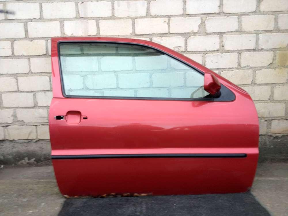 VW Polo 6N 3-Türen Bj 1997 Fahrertür Tür Vorne Rechts Farbe: Rot