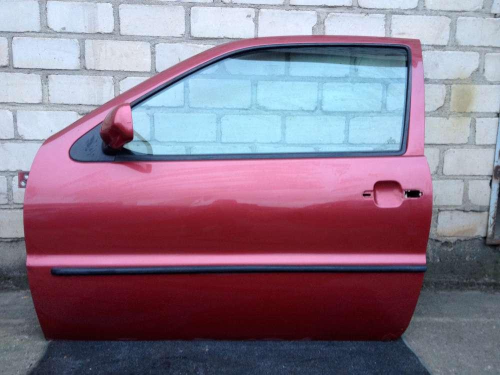 VW Polo 6N 3-Türen Bj 1997 Fahrertür Tür Vorne Links Farbe: Rot