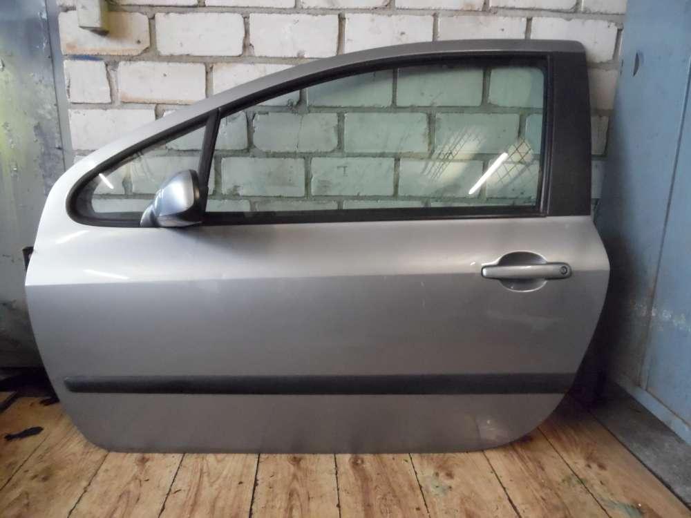 Peugeot 307 Bj 2004 3-türen Fahrertür Tür vorne links Grau Farbcode: EZA