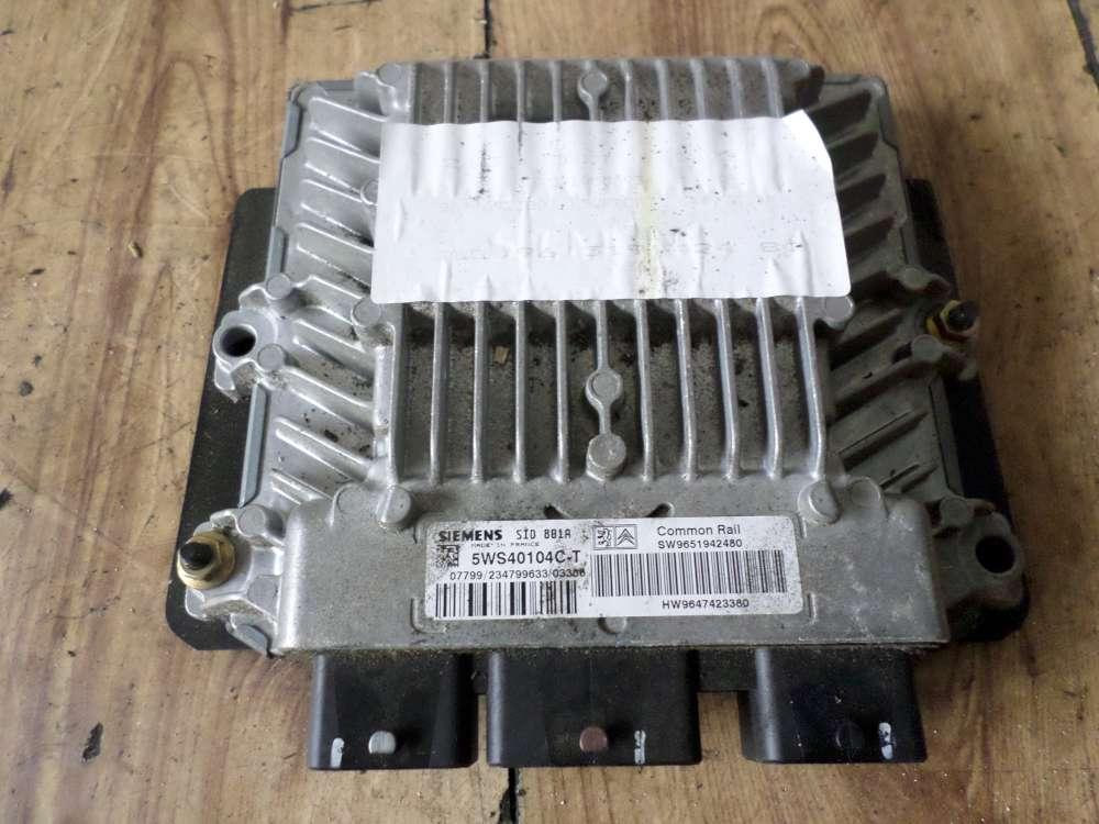 Peugeot 307 Bj:2004 Motorsteuergerät 9647423380 9650517980