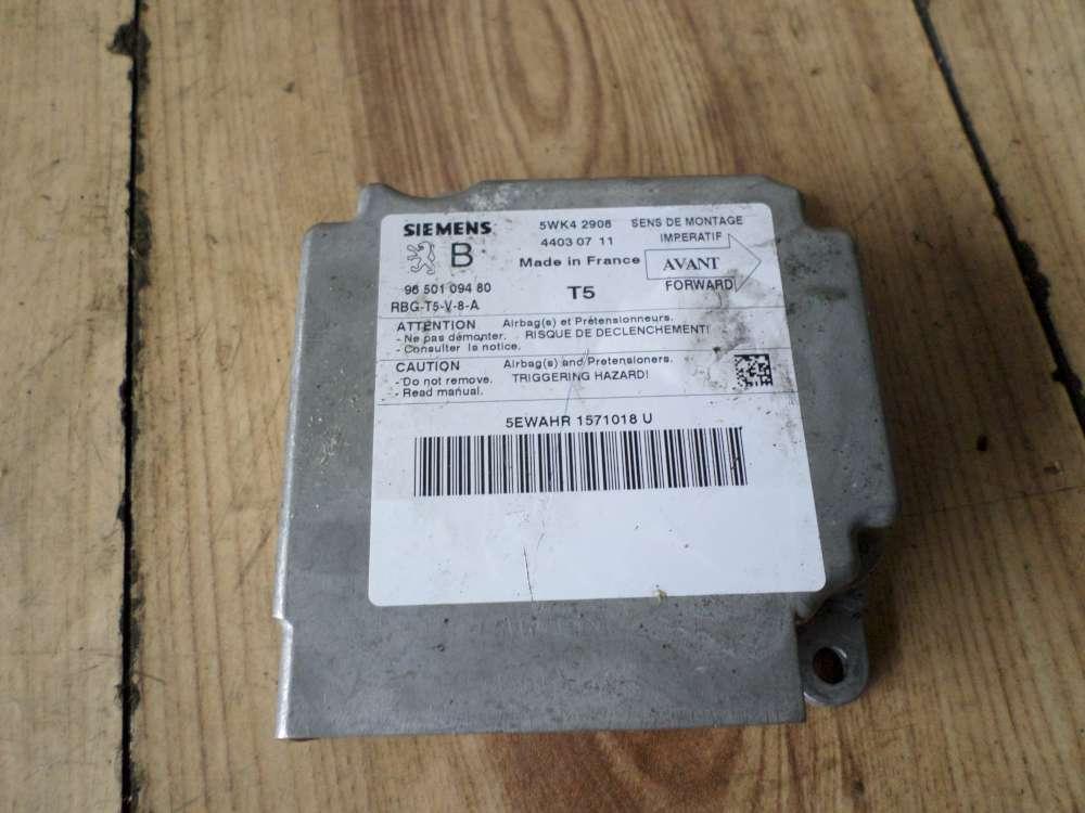 Peugeot 307 Bj:2004 Steuergerät Airbag 9650109480