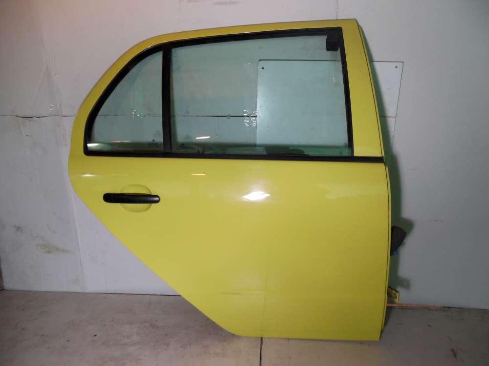 Skoda Fabia 6Y Bj 2002 Limousine Tür hinten Rechts Gelb