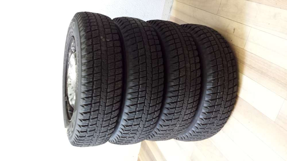 Kompletträder Winterreifen M+S Fiat Punto 155/80 R13 79T  ET35 KBA 43735 4x100