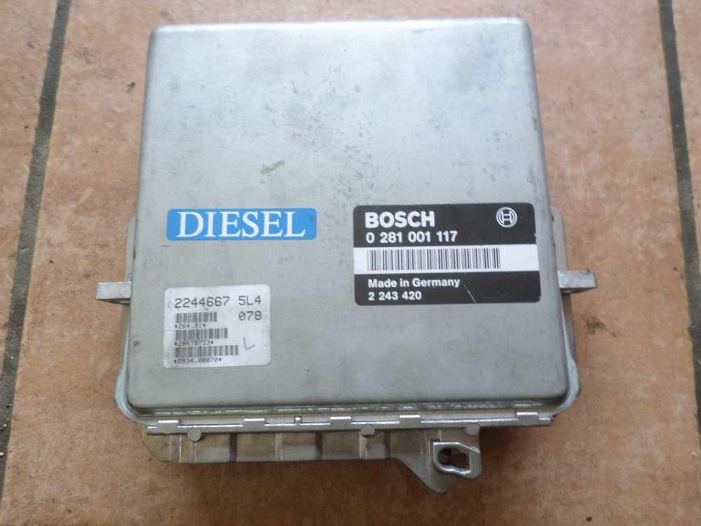 BMW E34 525TDS Diesel Steuergerät Motorsteuergerät Bosch 0281001117