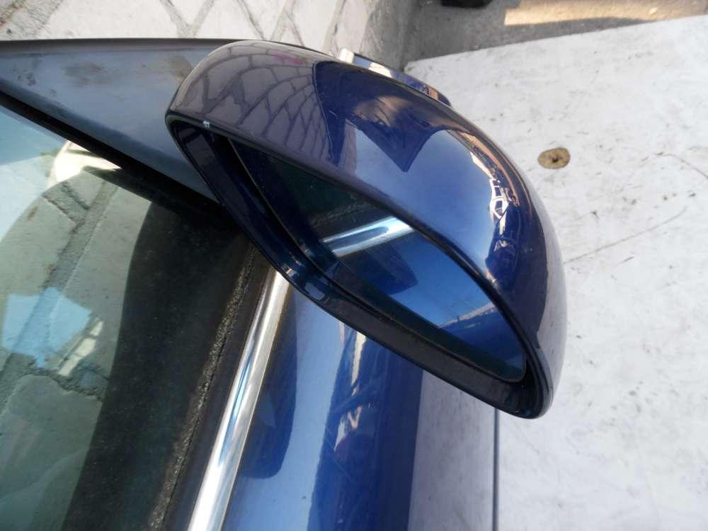 Audi A6 Typ 4B Aussenspiegel elektrisch vorne rechts Beifahrerseite blau LZ5K