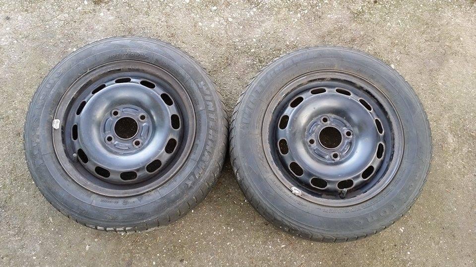 2 x Winterreifen Stahlfelgen 6Jx15H2 ET:45 Dunlop M+S 195/65/R15/91H