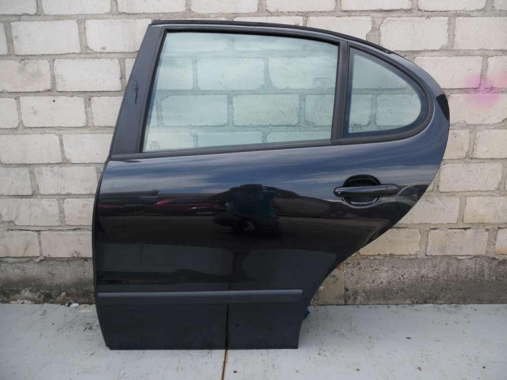 Seat Leon 1M Tür hinten links Schwarz Farbcode LC9Z