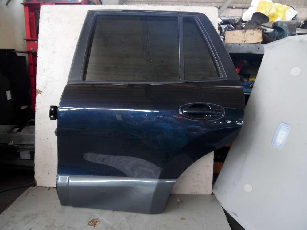 Hyundai Santa Fe I SM Bj 2004 Tür Hinten links Dunkelblau Farbcode: LA6P