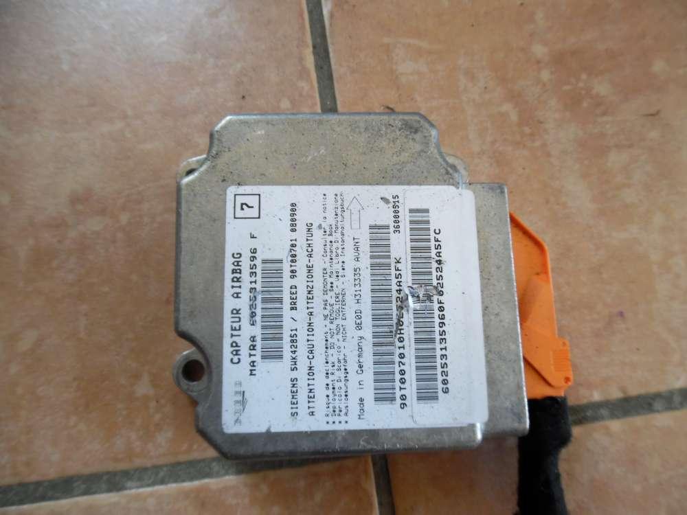 Renault Espace III JE Bj 2001 Airbag Steuergerät Airbagsteuergerät 6025313596F