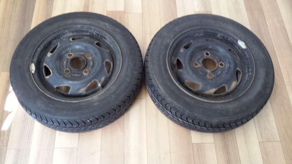 2 x Winterreifen Stahlfelgen Ford Fiesta , Ka , Courier 4,5J x 13 ET : 37,5 155 / 70 R13 75T