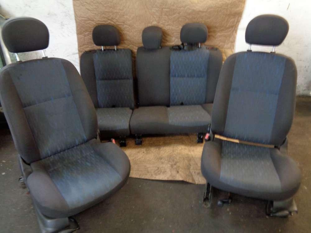 Ford Focus limousine3 Türer Bj:02 Sitz Komplett Stoff Grau und dunkel Blau