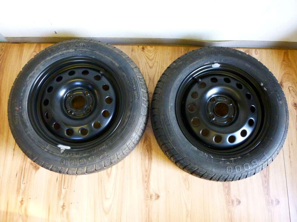 Original Stahlfelgen Sommerreifen Ford Focus Fiesta 6Jx15 H2 ET 52,5  42150812