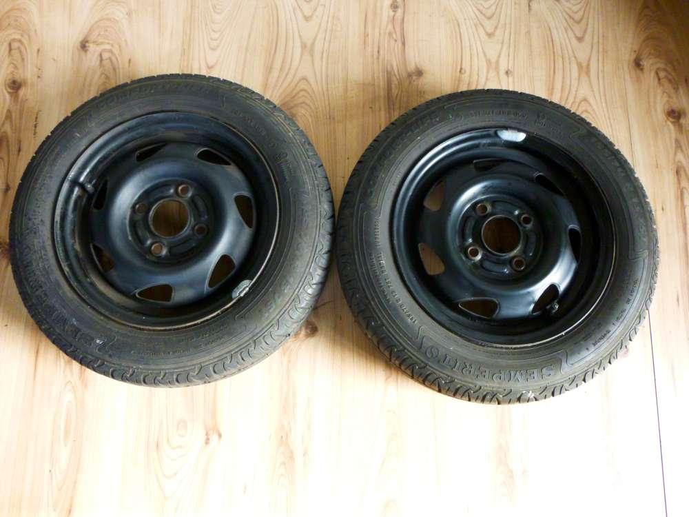 2 x Stahlfelgen Sommerreifen Ford Fiesta , Puma 5Jx13 ET43,5 155/70 R13 75T