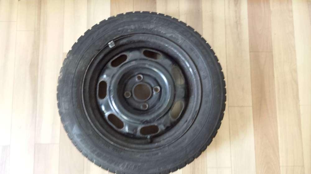 1 x Winterreifen Stahlfelgen für VW KBA 44739  6Jx14H2  ET:43  185/60 R14 82T  Bridgestone M+S