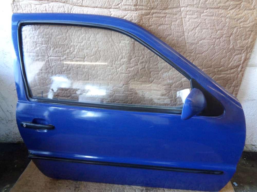 VW Polo 6N Bj:1997 3 Türer Tür Vorne Rechts Blau