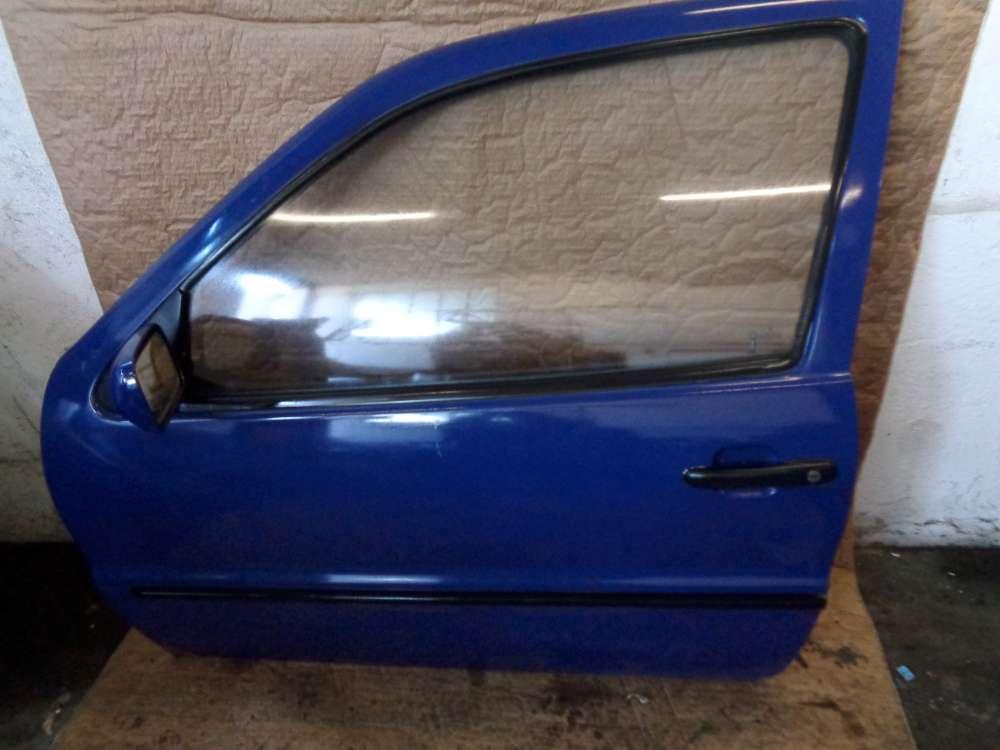 VW Polo 6N Bj:1997 3 Türer Tür Vorne Links Blau