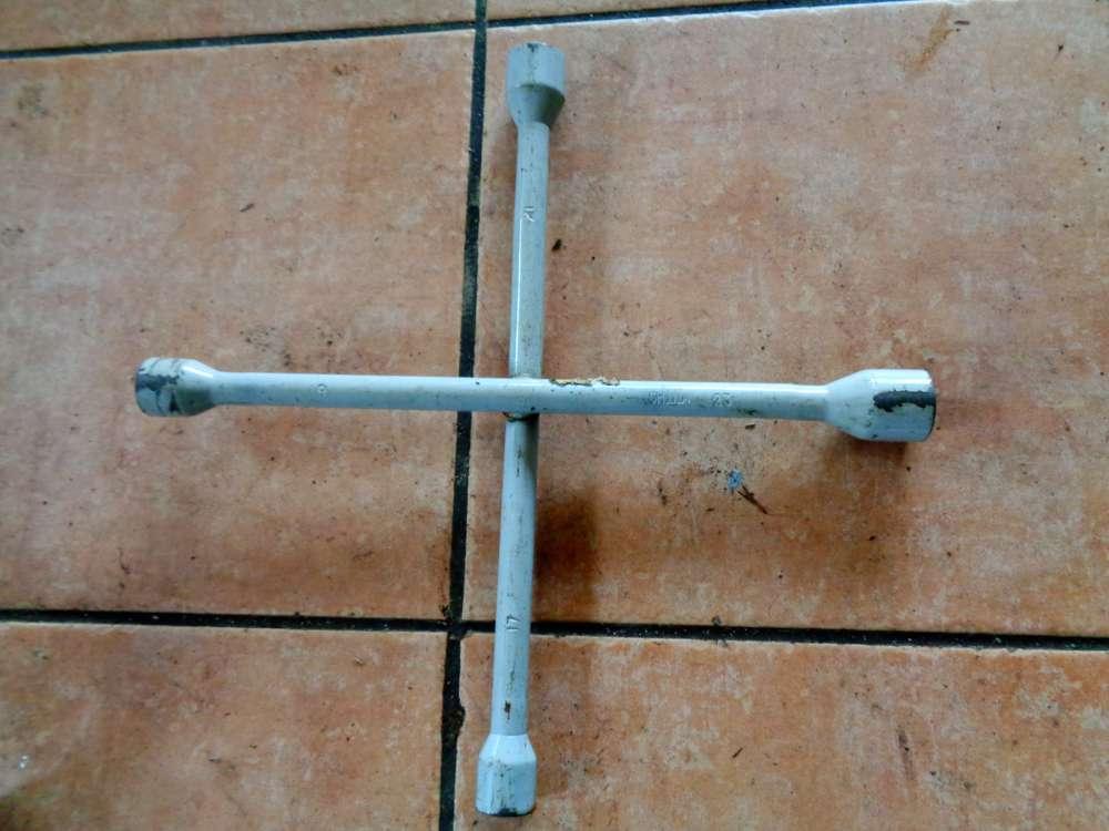 Radkreuz PKW Werkzeug Radmutternschlüssel SW 17 21- 19 / 23