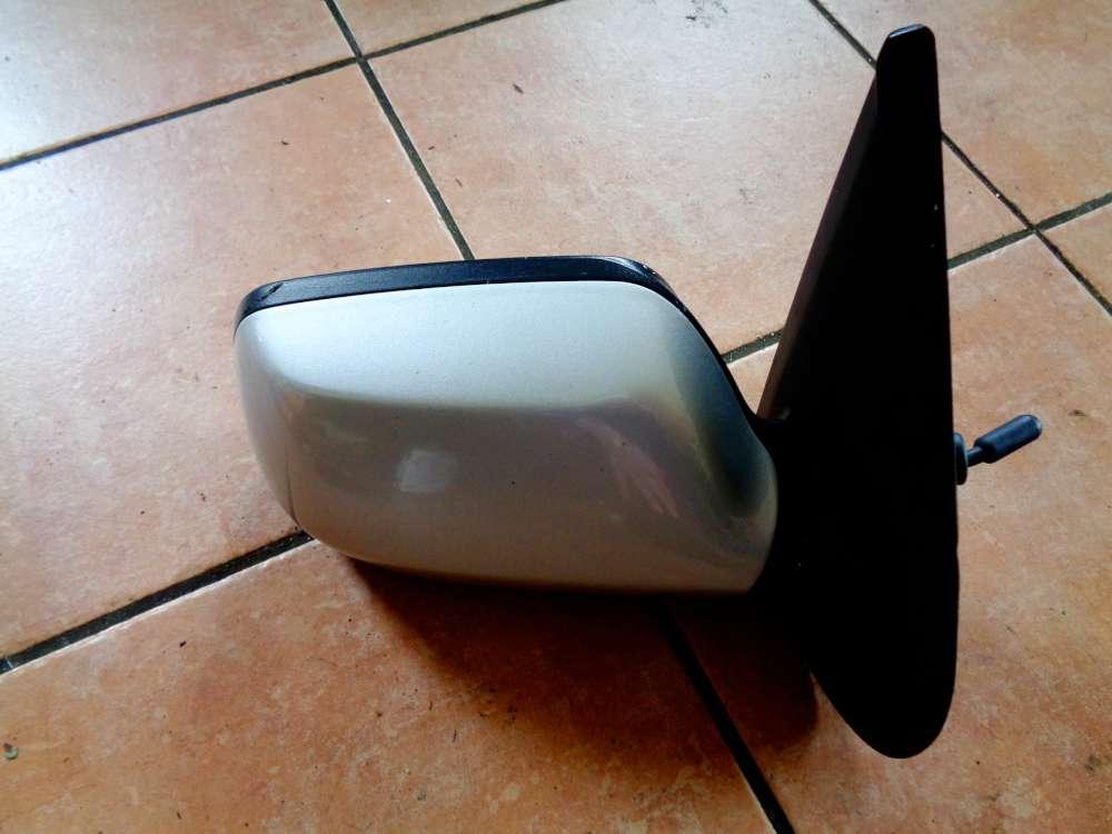 Mazda 2 DY Bj 2004 Aussenspiegel Manuell Rechts 014202 Silber Farbe