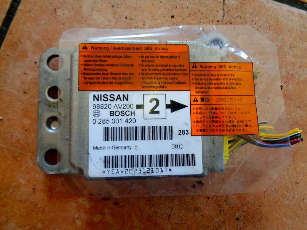 Nissan Primera P12 Bj:03 Airbagsteuergerät Steuergerät Airbag 98820AV200/0285001420