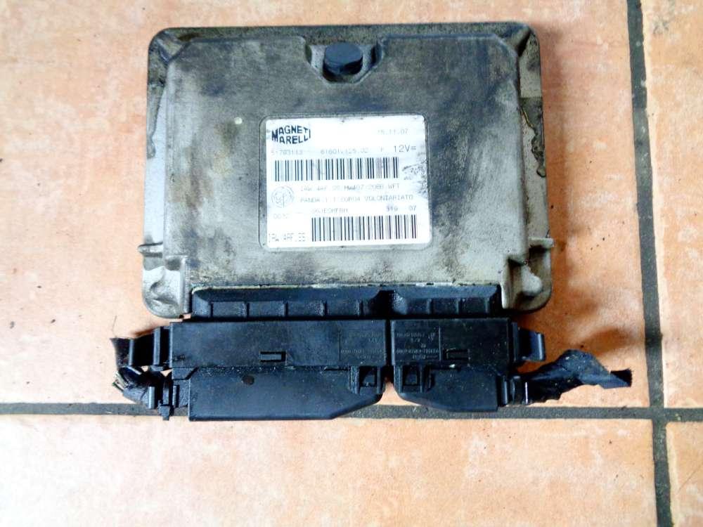 Fiat Panda 169 Bj:07 1,2L Motorsteuergerät Magneti Marelli 51793113 6160112502