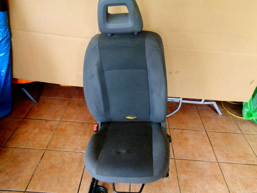 Fiat Panda 169 Bj:2007 5 Türer Fahrersitz Sitz Vorne Links Stoff Sitze
