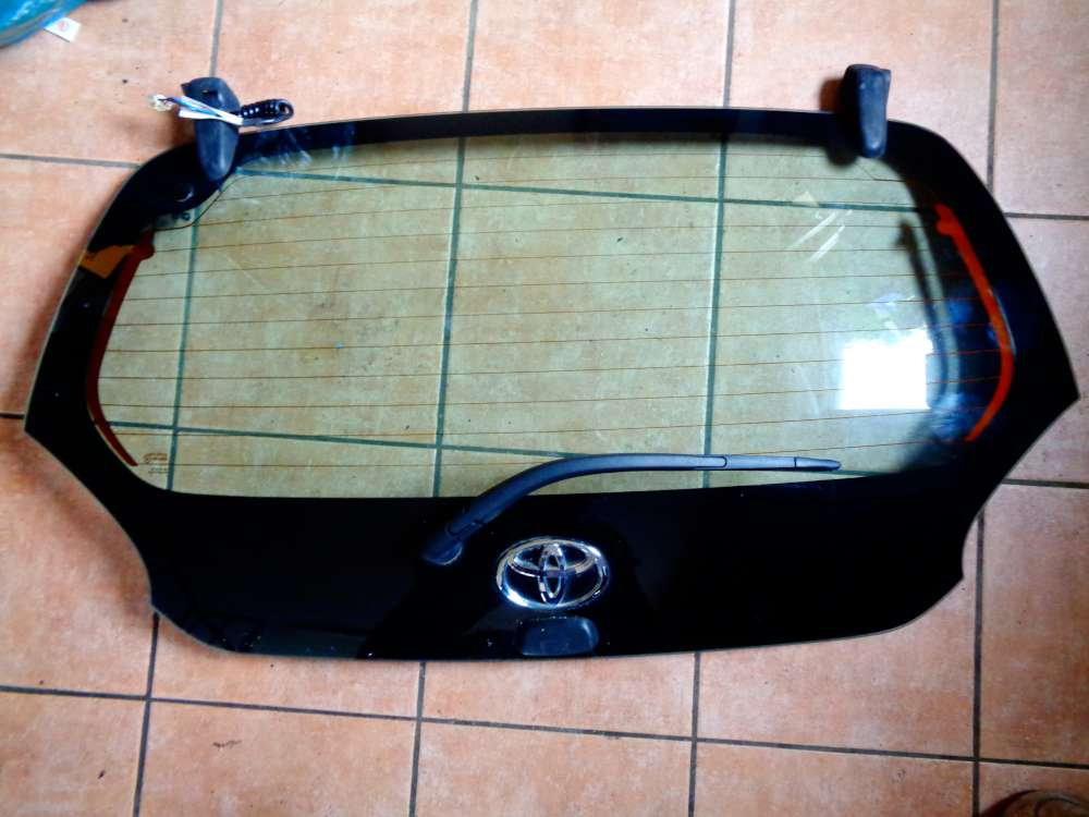 Toyota Aygo Bj:2009 Heckscheibe Heckklappe mit scheibenwischermotor und Heckwischerarn