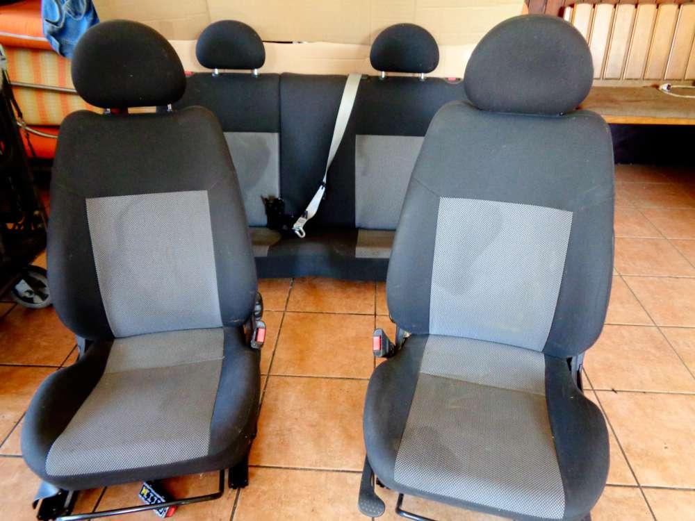 Opel Corsa C Bj:2010 3 Türer Komplett Sitze Stoff Grau