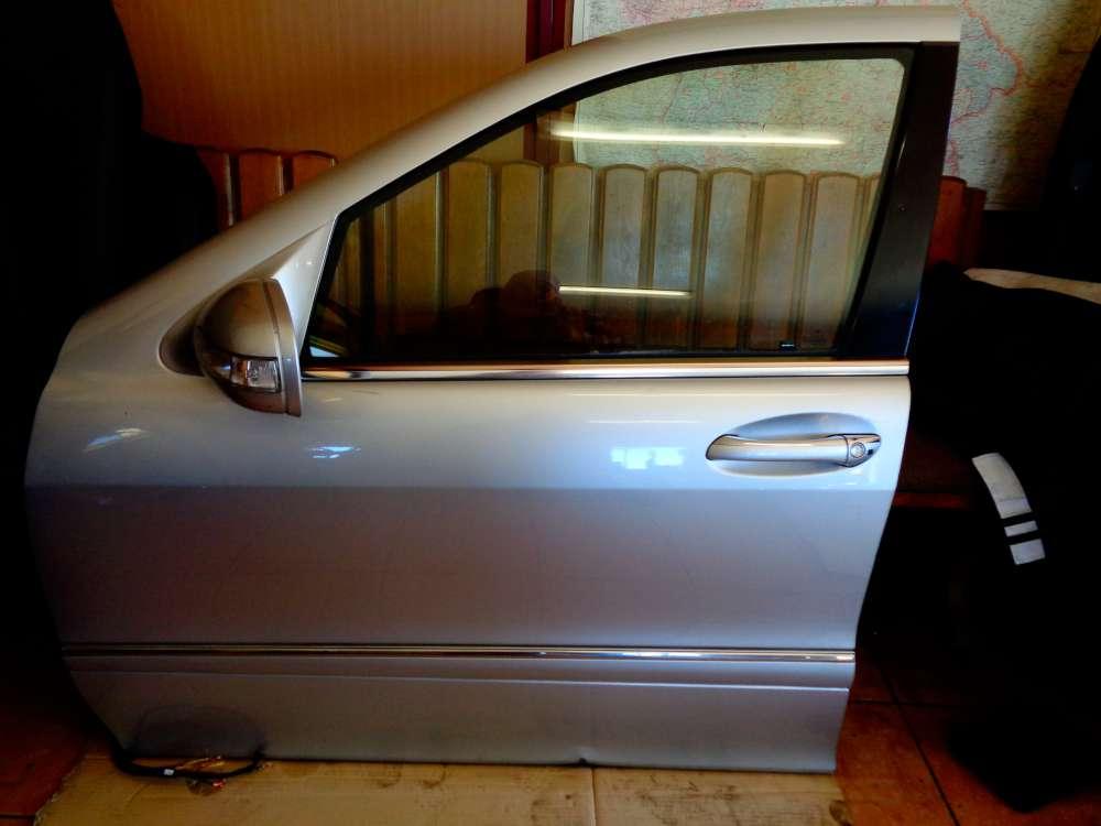 Mercedes Benz S-Klasse W220 S 320 Bj:03 Tür Vorne Links Fahrerseite Silber Farbcode: C744