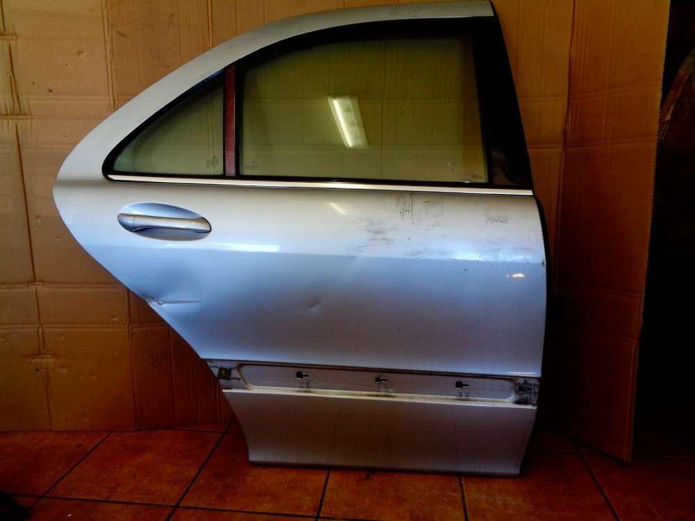 Mercedes Benz S-Klasse W220 S 320 Bj:03 Tür Hinten Rechts Silber Farbcode: C744