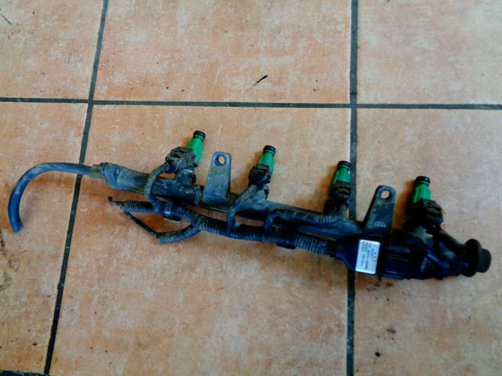 Hyundai Accent MC 1.4 GL G4EE Bj:07 Einspritzleiste Einspritzanlage mit Kabelbaum 35341-26865