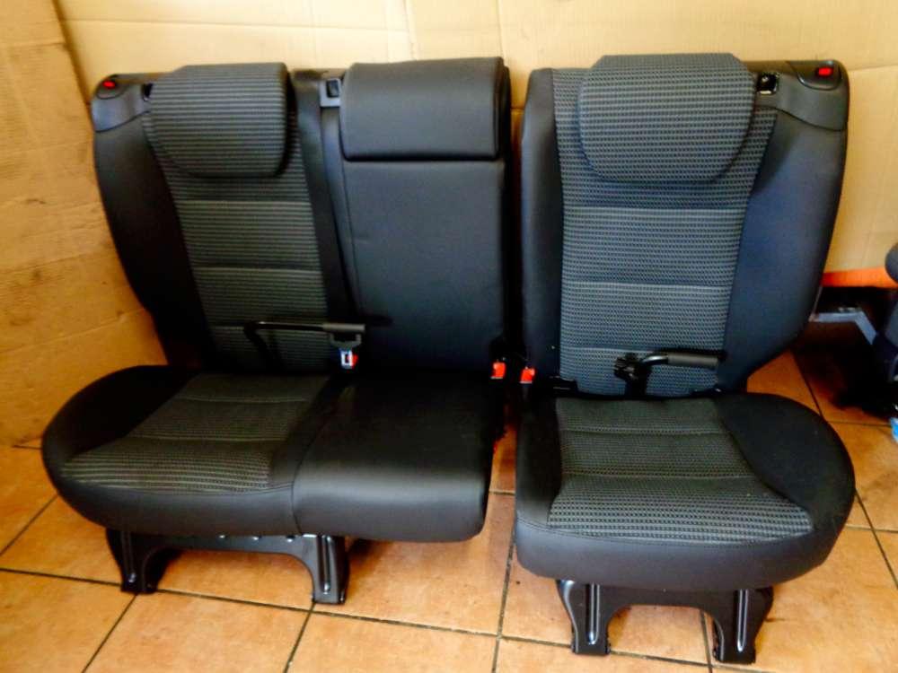 Mercedes W169 A-Klasse A180 CDI Bj:2005 Rücksitzbank Rücksitz Sitz Hinten Teilleder schwarz grau