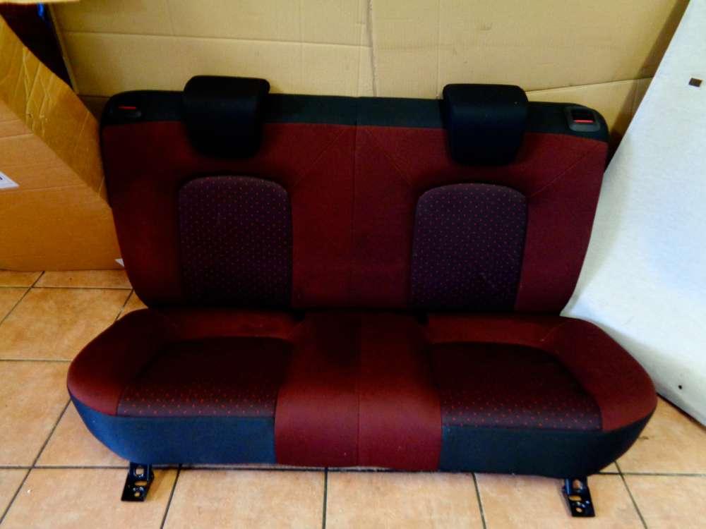 Fiat Punto 199 Bj:2008 3 Türer Rücksitzbank Sitze Stoff schwarz und Rot