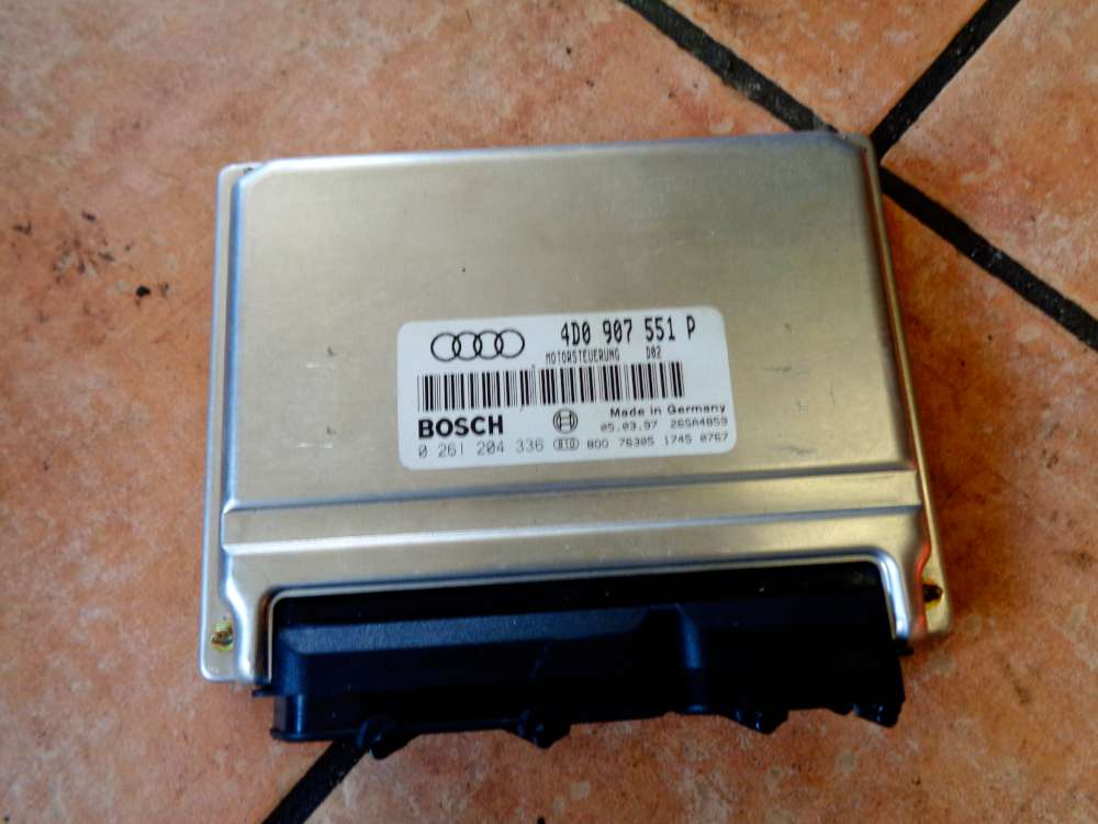 Audi A6 4B Bj:1998 Motor Steuergerät Motorsteuergerät 4D0907551