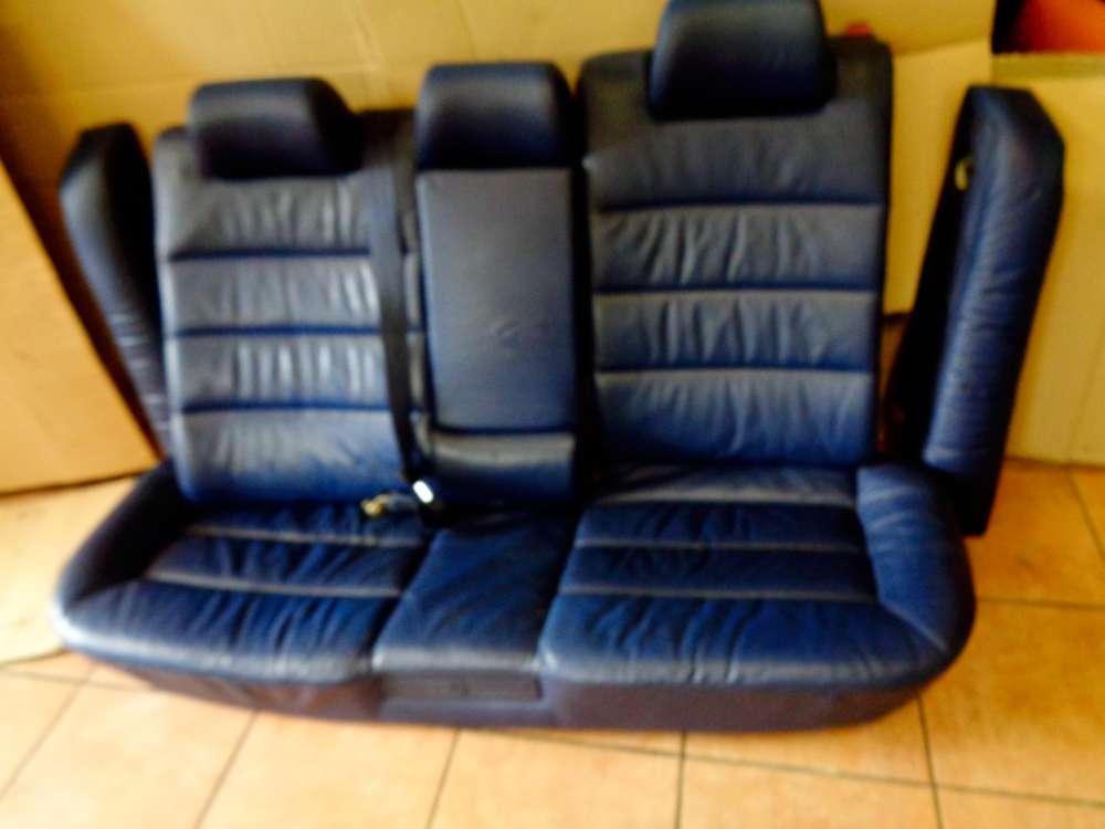 Audi A6 4B Bj:1998 Rücksitzbank Rückbank Leder Elektrisch Blau