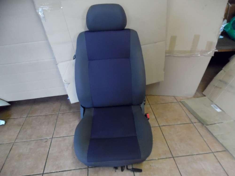 Seat Ibiza 6K Bj:2001 Beifahrersitz Sitz Vorne Rechts Stoff Grau und Blau Sitze