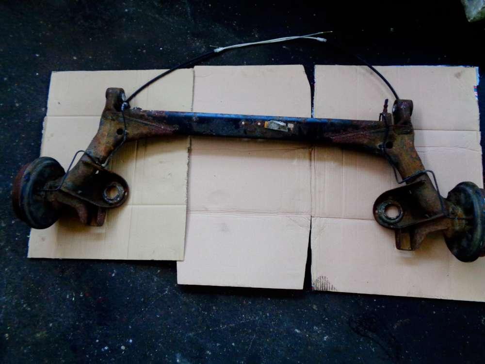 Seat Ibiza 6K 1.4L Bj:01 Hinterachse Achse Hinten Achsträger mit Handbremsseil 6X0609721F