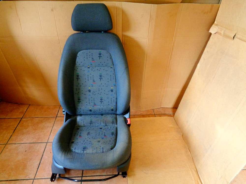 Skoda Fabia 6Y2 Limosine Bj:2002 Sitz Beifahrersitz Vorne Rechts Stoff Grau