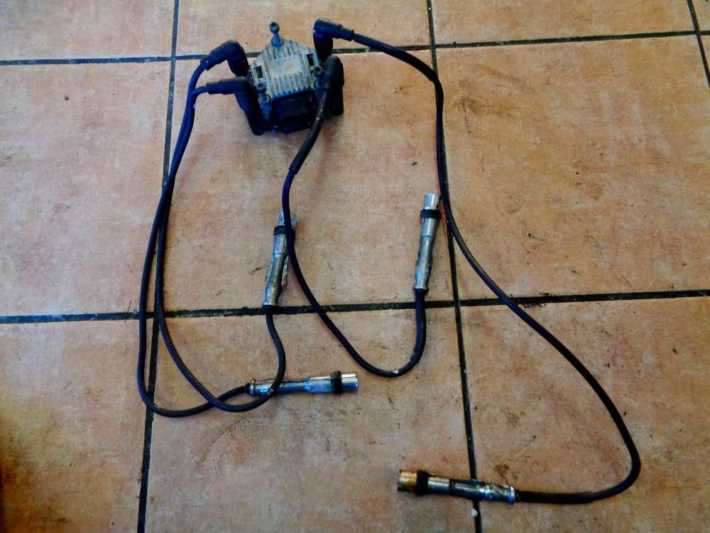VW Polo 6N2 1,0L Bj:2000 Zündspule Zündverteiler mit Zündkabel kabel 06A035261A