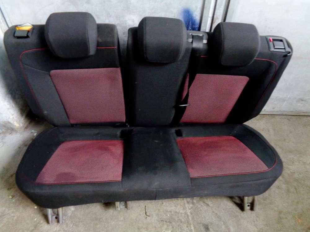 Opel Corsa D Rücksitzbank Rücksitz Sitz Stoff