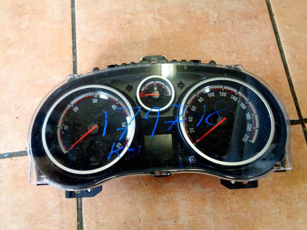 Opel Corsa D Bj:08 Kombiinstrument Tacho 179718 KM 1303304