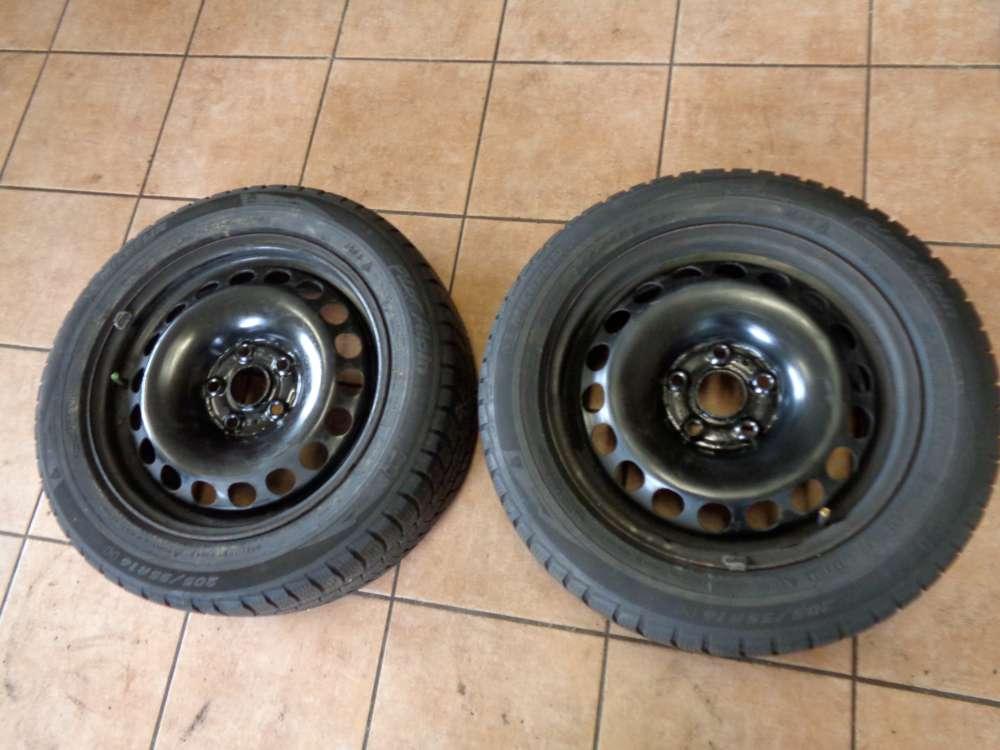2X Winterreifen  VW Passat 205/55 R16 91H  M+S Michelin  3C0601027H / 3C 6,5Jx16 ET42