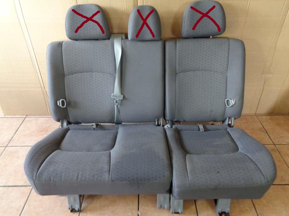 KIA Carens II Sitze Rücksitzbank grau Stoff
