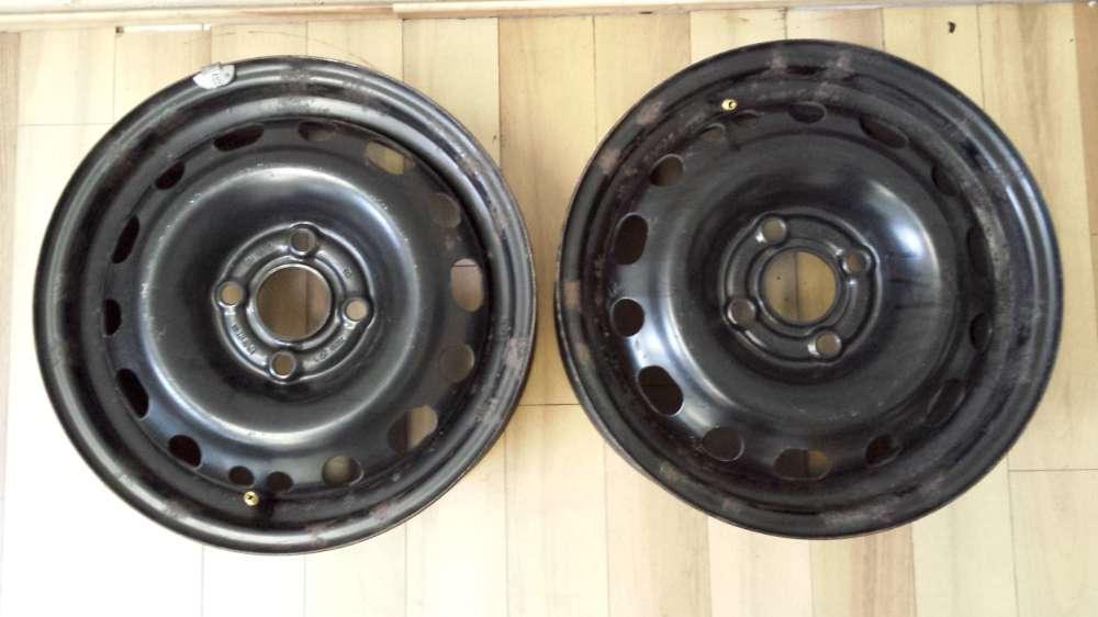2 x Stahlfelgen  Opel Corsa C  5 ½ Jx14H2  ET: 49  2140141  4Loch