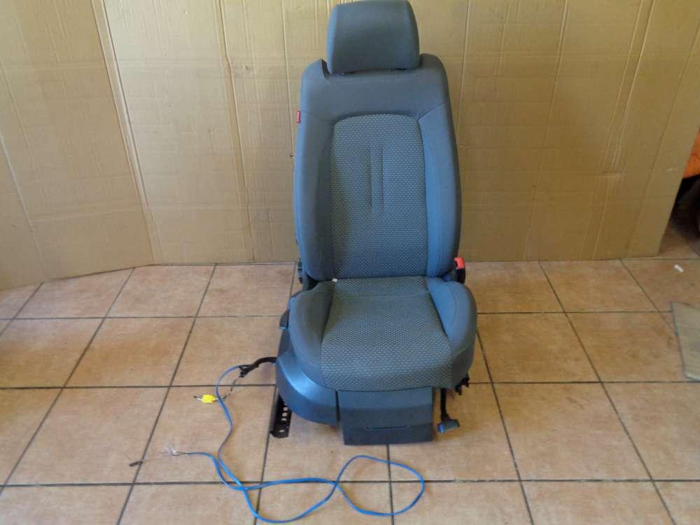 Seat Altea 5P Bj:2007 Beifahrersitz Sitz Vorne Rechts mit Leitungssatz Kabelbaum 1K0971391 grau Stoff