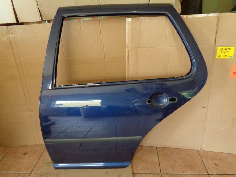 VW Golf 4 Bj 98 Limousine 1,4 L 5Türer Tür Hinten Links Indigoblau LB5N